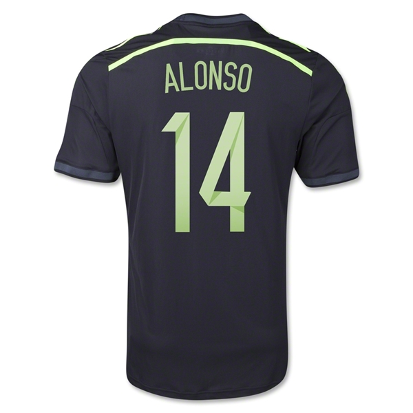 Spain 2014 ALONSO Authentic Away Soccer Jersey