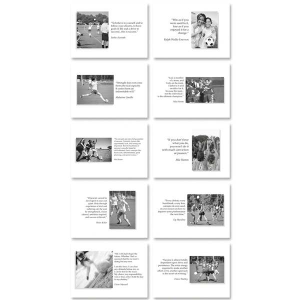 Soccer Inspirational Cards for Girls