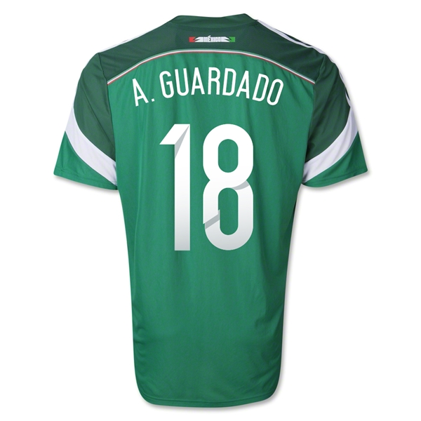Mexico 2014 A. GUARDADO Authentic Home Soccer Jersey
