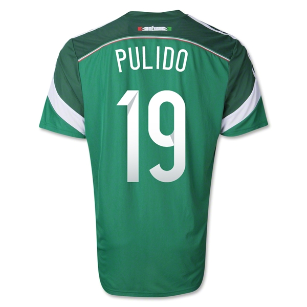 Mexico 2014 PULIDO 19 Authentic Home Soccer Jersey