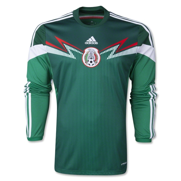 Mexico 2014 Home LS Soccer Jersey