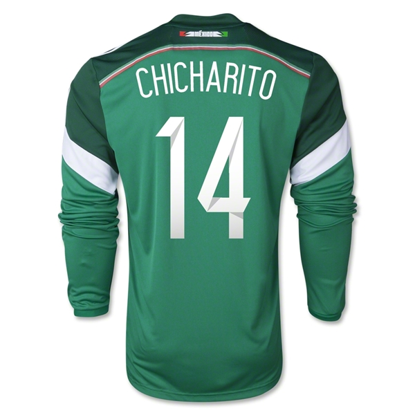 Mexico 2014 CHICHARITO LS Home Soccer Jersey