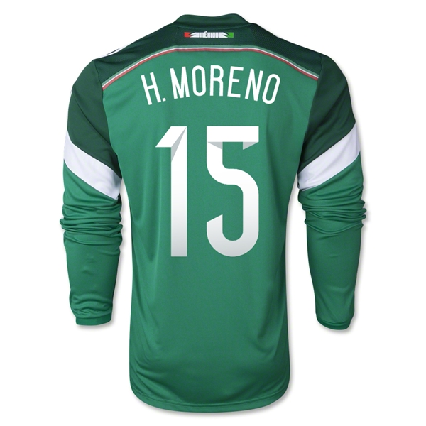 Mexico 2014 H MORENO LS Home Soccer Jersey