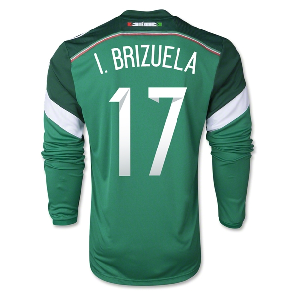 Mexico 2014 I BRIZUELA LS Home Soccer Jersey