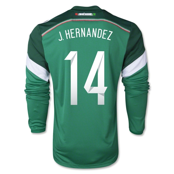 Mexico 2014 J. HERNANDEZ LS Home Soccer Jersey