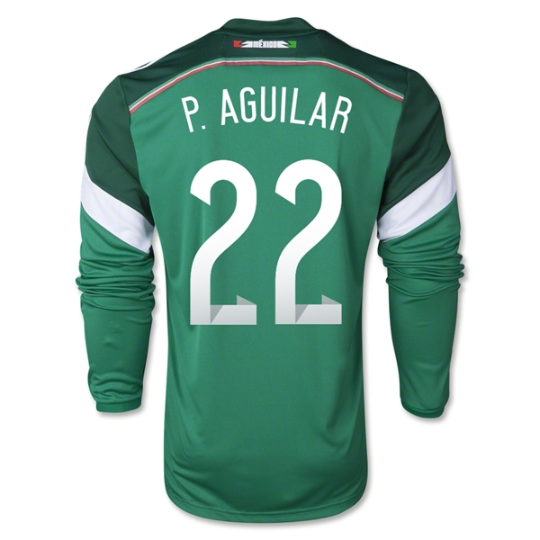 Mexico 2014 P AGUILAR LS Home Soccer Jersey