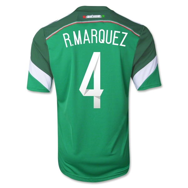 Mexico 2014 R. MARQUEZ Youth Home Soccer Jersey