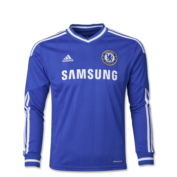 Chelsea 13/14 LS Youth Home Soccer Jersey