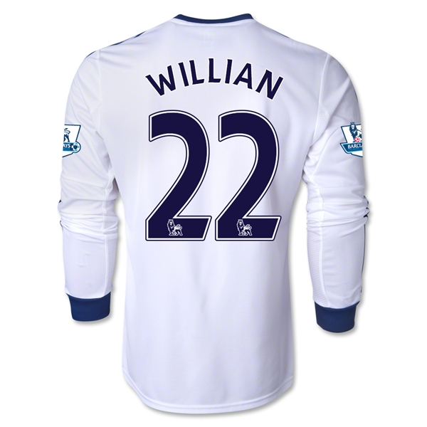 Chelsea 13/14 22 WILLIAN LS Away Soccer Jersey