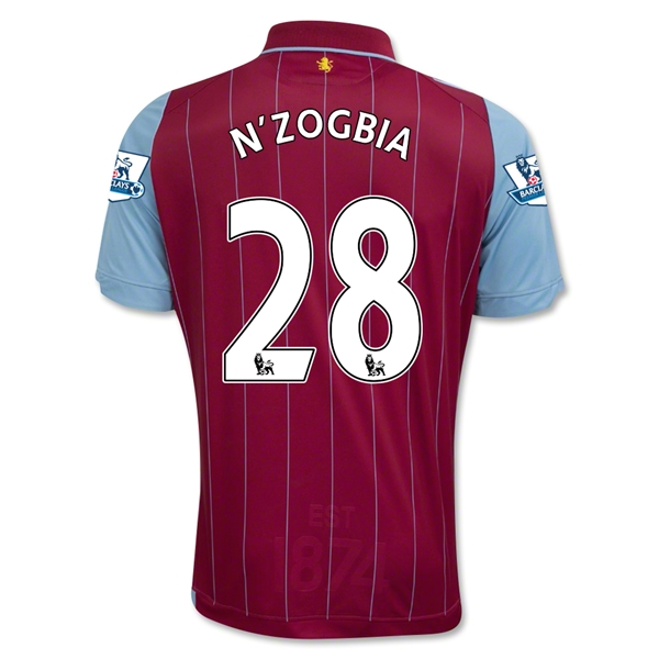 Aston Villa 14/15 N'ZOGBIA Home Soccer Jersey