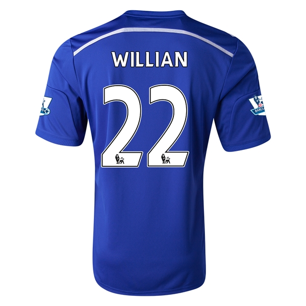 Chelsea 14/15 22 WILLIAN Home Soccer Jersey