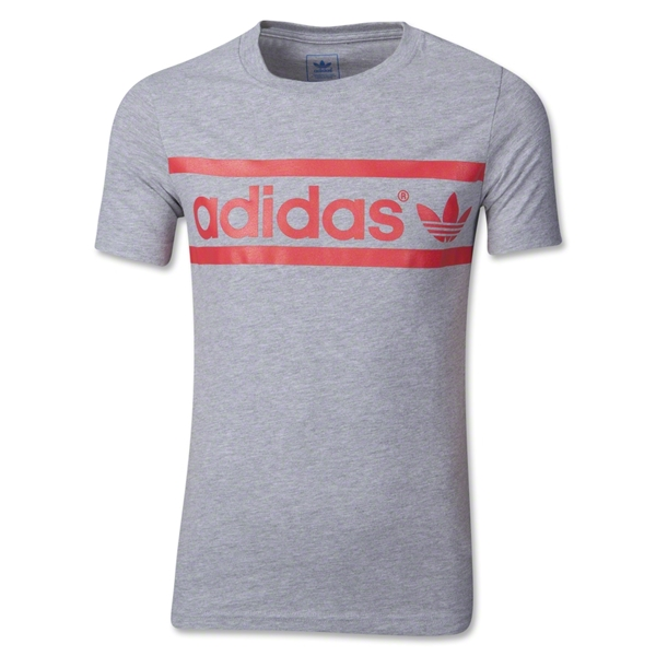 adidas Originals Kids Heritage Logo T-Shirt (Gray)