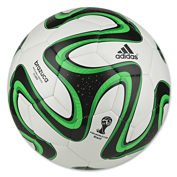 adidas 2014 Brazuca Glider Ball (White/Black/Green)