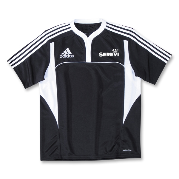 adidas Serevi Three Stripe II Rugby Jersey (Black/White)