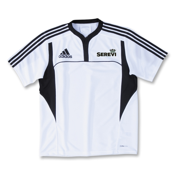 adidas Serevi Three Stripe II Rugby Jersey (White/Black)