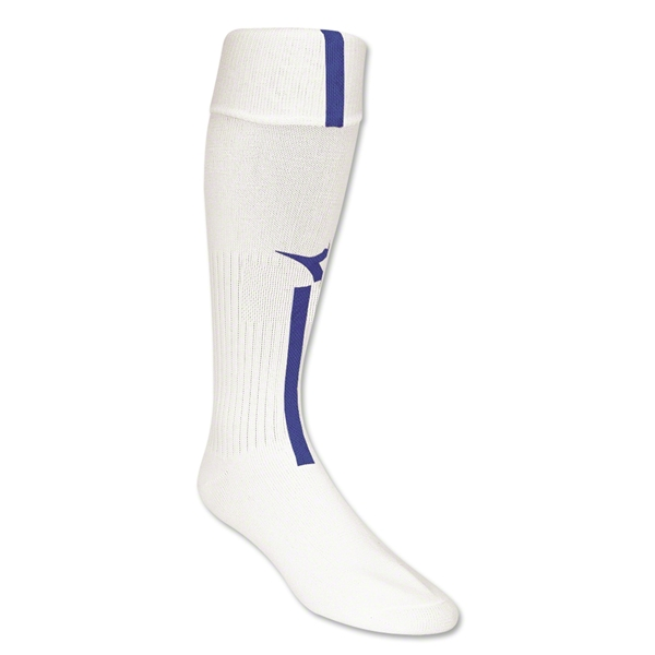 Diadora Azzurri Soccer Socks (White/Royal)