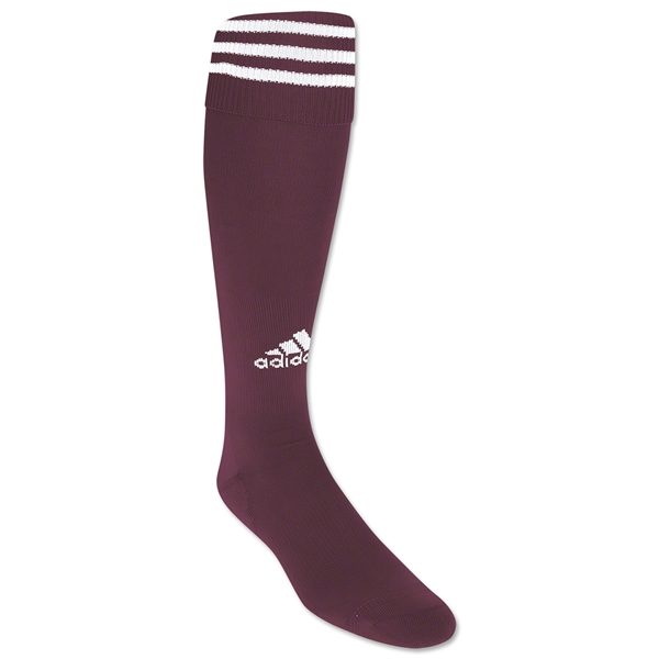 adidas Copa Zone Cushion Socks (Maroon/Wht)
