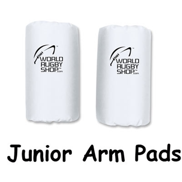 Junior Rugby Arm Pads (White)