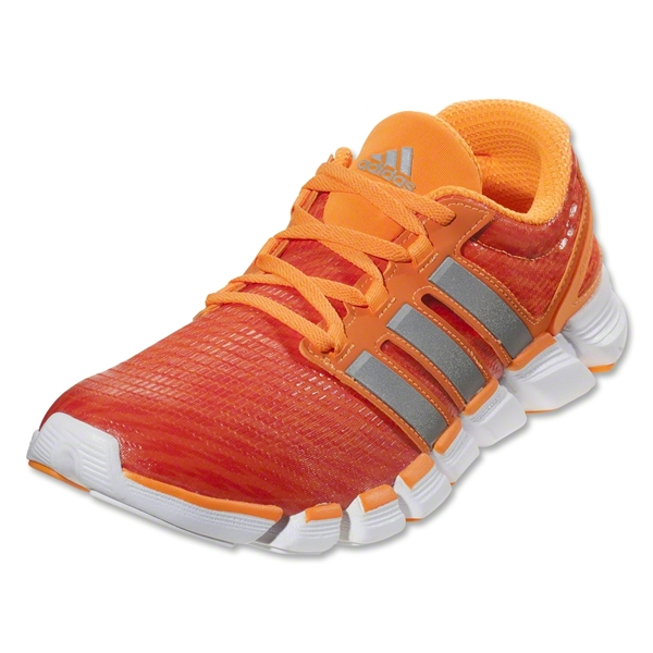 adidas adiPure Crazy Quick Running Shoe (Solar Zest/Metallic Silver/Running White)