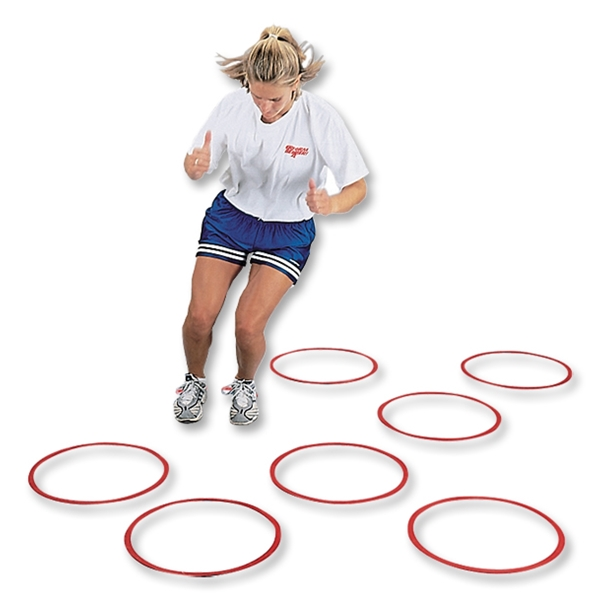 Goal Sporting Goods Flat Fitness Ring (Red), Set of 12