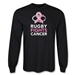 Rugby Fights Cancer Long Sleeve T-Shirt (Black)