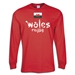 Wales 2011 LS Script Rugby T-Shirt (Red)