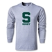 Michigan State University Rugby Long Sleeve T-Shirt (Gray)