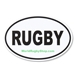 RUGBY Car Magnet