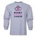 Rugby Fights Cancer Men's LS T-Shirt (Gray)