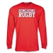 Hong Kong Supporter LS Rugby T-Shirt (Red)