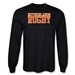 Netherlands Supporter LS Rugby T-Shirt (Black)