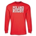 Poland Supporter LS Rugby T-Shirt (Red)