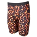 Men's Red Flame Compression Short-7 Inseam (Red)