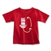 Eat. Nap. Rugby. REPEAT Toddler T-Shirt (Red)