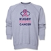 Rugby Fights Cancer Men's Crewneck Fleece Sweatshirt (Gray)