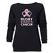 Rugby Fights Cancer Women's Crewneck Fleece Sweatshirt (Black)
