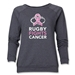 Rugby Fights Cancer Women's Crewneck Fleece Sweatshirt (Dark Gray)