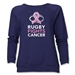 Rugby Fights Cancer Women's Crewneck Fleece Sweatshirt (Navy)