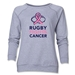 Rugby Fights Cancer Women's Crewneck Fleece Sweatshirt (Gray)