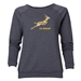 South Africa Springboks Women's Crewneck Fleece (Dark Gray)