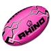 Rhino Pink Lightning Rugby Ball (Size 4)