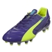 Puma evoSpeed 1.3 Leather FG (Prism Violet/Fluro Yellow/Scuba Blue)