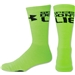 Under Armour Speed Don't Lie Crew Sock (Lime/Black)