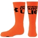 Under Armour Speed Don't Lie Crew Sock (Org/Blk)