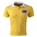 Australia Flag Retro Rugby Jersey (Yellow)