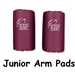 Junior Rugby Arm Pads (Maroon)