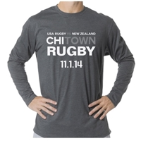 USA vs. All Blacks Long Sleeve T-Shirt (Dark Grey)