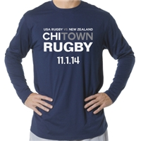 USA vs. All Blacks Long Sleeve T-Shirt (Navy)