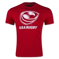 USA Rugby Crest T-Shirt (Red)