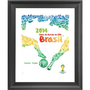 2014 FIFA World Cup Official Poster (Portuguese) Framed Print